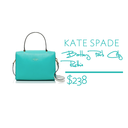 kate spade turquoise bag battery park city ruthie