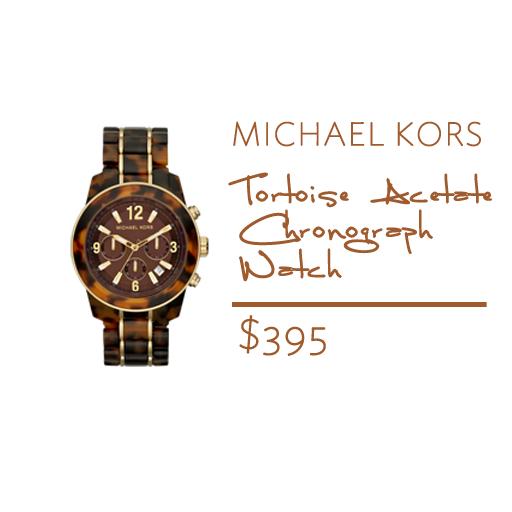 michael kors tortoise shell watch