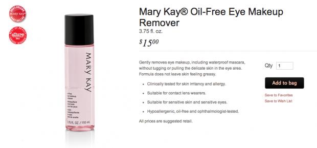 MaryKayMakeupRemover